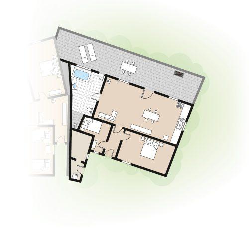 Grundriss Ferienhaus Casa Bela Vista II Azoren