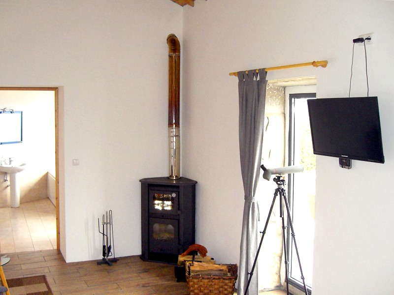 ood burning stove Azores holiday rental